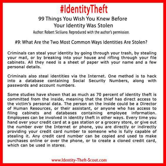 Identites Stolen