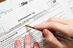 completing self-employment tax form