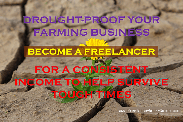 Drought-proof your farming business – become a freelancer for a consistent income to help survive tough times