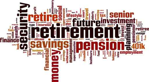retirement and related words