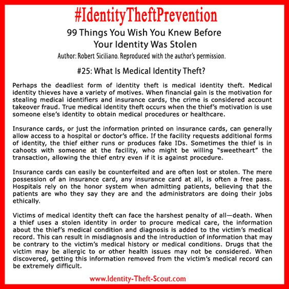 What Is Medical Identity Theft?