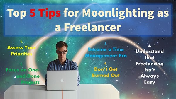 Top Five Tips for Moonlighting as a Freelancer
