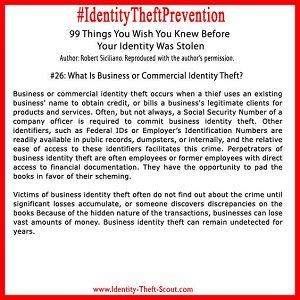 What is Business or Commercial Identity Theft?