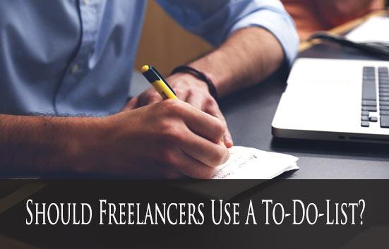Should Freelancers Use A To-Do List?
