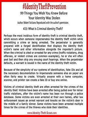 What is Criminal Identity Theft?