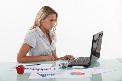 woman doing market research